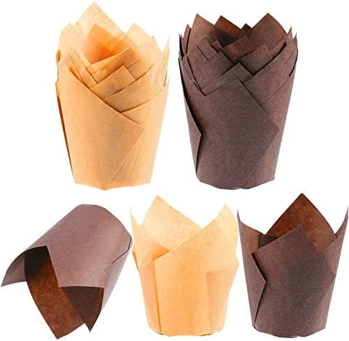 Tulip Cupcake Liners Baking Cups Parchment Paper Muffin Tin Cups Standard Size 100 Count product image
