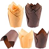 Tulip Cupcake Liners Baking Cups Parchment Paper Muffin Tin Cups Standard Size 100 Count