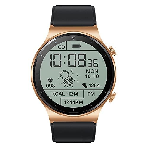 huanglanshangmao Reloj Inteligente Reloj telefonía Deportivo (Color : Gold)