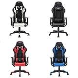 LD-Trend Gaming Stuhl Racing Bürostuhl Schreibtischstuhl Drehstuhl Sportsitz Chefsessel Gamingstuhl (Weiß-Schwarz)