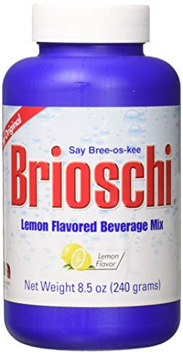 Brioschi Effervescent 8.5oz Bottle The Original Lemon Flavored Italian Effervescent - 1 Bottle
