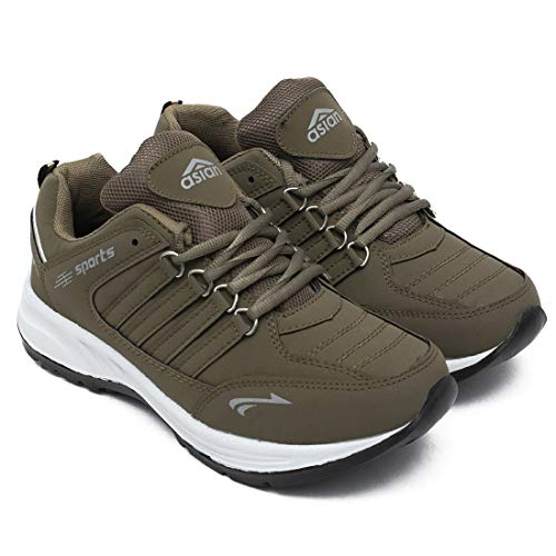ASIAN Men's Cosko Brown Sports Running Shoes UK-8
