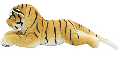 TAGLN Animales de Peluche Tiger Juguete de Peluche Leopardo Guepardo Pantera Almohadas 45 CM (Tigre Marrón)