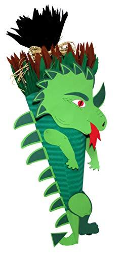 Schultüte Bastelset Dinosaurier - Zuckertüte - aus 3D Wellpappe, 68cm hoch