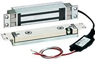 SDC 1560 Series Hi/Shear EMLock External Electronics Concealed Mortise Electromagnetic Lock with Door Static Sensor, 12/24 VDC, 2000 to 27000 lbs Holding Force, 1-1/4