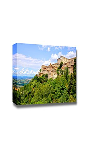 "Beautiful Scenery Landscape View Over The Old Hill Town of Todi Umbria Italy - Canvas Art Wall Decor - 24"" x 36"""