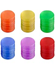 Toyvian 120pcs Bingo Chips 19mm Plastic Smooth TransparentBingo Counting Chip Plastic Markers Bingo Supplies for Games Maths