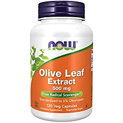 NOW Olive Leaf Extract 500 mg,120 Veg Capsules