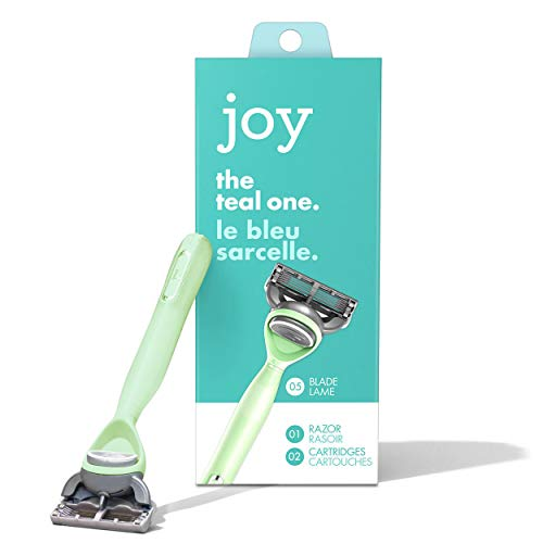 Joy. The Teal One, Teal Razor with 2 Cartridges
