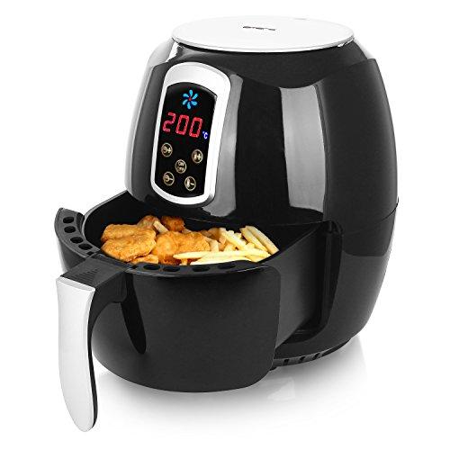 """Emerio Heißluftfritteuse, Airfryer, Smart Fryer, DIGITAL, Test \""""GUT\"""", Frittieren ohne Öl, leicht zu reinigen, 3.3 Liter Volumen, 1400 Watt, BPA frei, AF-115668"""