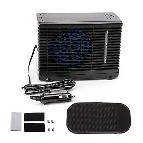 shiqi Ajustable 12V 60W Coche Aire Acondicionado Refrigerador de enfriamiento Agua Hielo Evaporativo Enfriador portátil