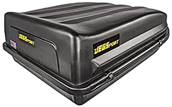 JEGS Rooftop Cargo Carrier | Hard Car Top Large Luggage Box | Waterproof Storage | Heavy Duty Solid Case | Made in USA | 18 Cubic Ft | 100 Lb Capacity | Zero Tool Easy Assembly | Aerodynamic Design