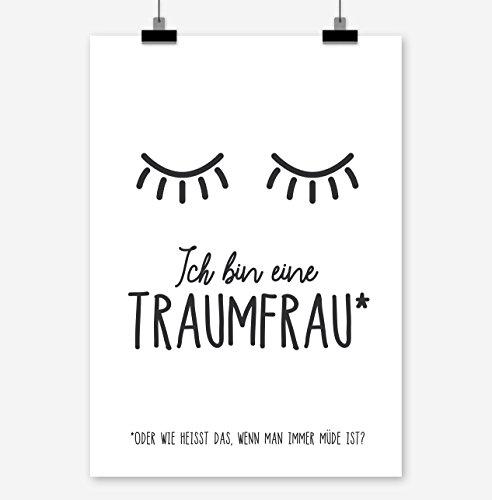 Prints Eisenherz ICH Bin EINE TRAUMFRAU Kunstdruck Poster (A4)