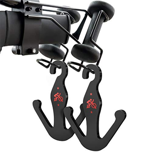 Crostice Black Acrylic Shoes Hanger for Peloton Bike and Peloton Bike+, Matte Peloton Accessories (2 Packs)