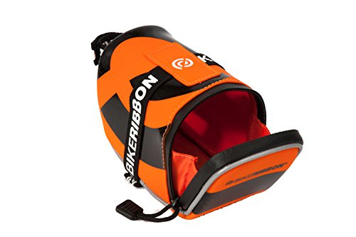 Bike Ribbon – Bolsa para sillín Sio2 Bag Big, Color Naranja - Naranja, tamaño 14 x 7 x 9 cm, 0.8 Liter, Volumen Liters 0.8