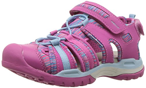 Geox Mädchen J Borealis Girl A Geschlossene Sandalen, Pink (Fuchsia/Sky), 35 EU
