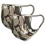 Facetex 3er-Pack Abdeckung 100% Baumwolle | waschbar bis 90°C, Bügeleisen-geeignet, Oeko-TEX 100 Standard | Einheitsgröße für Erwachsene | Wiederverwendbare Behelfs-Abdeckung für Mund Nase in Khaki