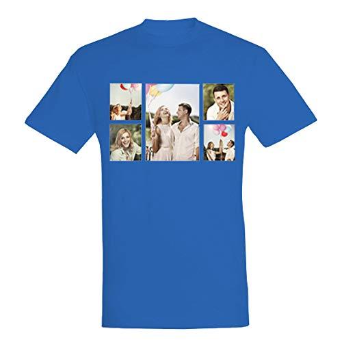 """Arctic Fox Camiseta personalizable en Amazon para hombre y mujer, niño y niña, con foto con texto """"Dedica"""" en varios colores turquesa M"""