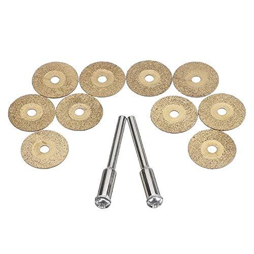 WEISHAN - Disco de corte de metal para herramienta rotativa con 2 mandriles para cortador de metal (18 mm)