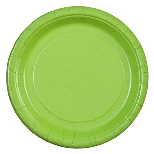 Party Dimensions 24 Count Paper Plate, 7-Inch, Lime Green