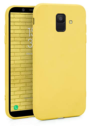 MyGadget Funda para Samsung Galaxy A6 2018 en Silicona TPU - Carcasa Slim & Flexible - Case Resistente Antigolpes y Anti choques - Ultra Protectora - Amarillo