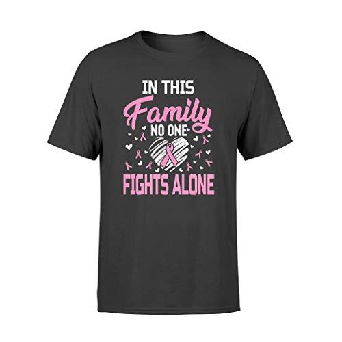 Linkupp Camiseta estándar con el cáncer de mama en esta familia, nadie lucha solo