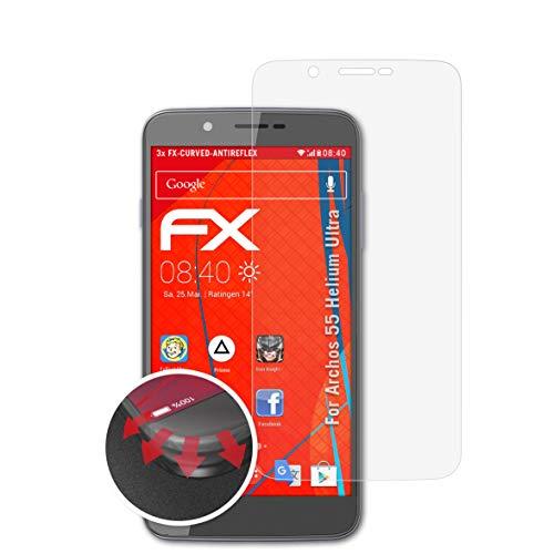 atFolix Schutzfolie kompatibel mit Archos 55 Helium Ultra Folie, entspiegelnde & Flexible FX Bildschirmschutzfolie (3X)