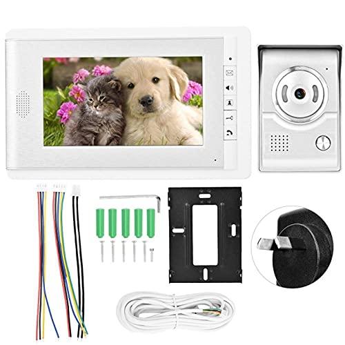 ZCZZ Timbre TFT-LCD HD de 7 Pulgadas de Alta confiabilidad Más Seguro, para Apartamentos, Pisos de Gran Altura (V70C-L + Estándar británico, 100-240 V)