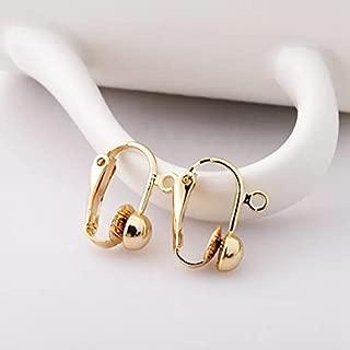 Onwon 2 Dozen/24 Pcs Golden & Silver Iron Clip-on Earring Converter Components for Non-Pierced Ears for DIY Earring