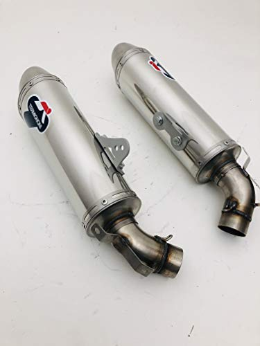 COPPIA TERMINALI MARMITTE EXHAUST ORIGINALI TERMIGNONI'COMPATIBILE CON DUCATI' MONSTER 696 2008 2014