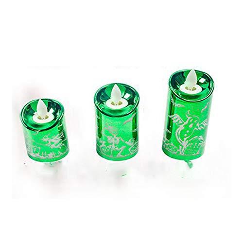 HELELELE LED-kaarsen, LED vlamloze thealights, flikkeren theelichtjes, elektrische kaars lichten batterij decoratie voor Kerstmis, kerstboom, Pasen, bruiloft, feest (4 stuks)