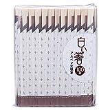 大和物産 白い箸 アスペン元禄箸 100膳 アスペン