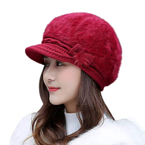 QUEERY Unisex Woolen Beanie Cap for Men Women Girl Boy Warm Snow Proof Soft for Riding, Cycling, Byke, Bike, Motorcycle Air Proof (Maroon)