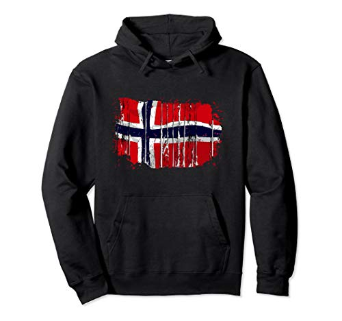 Norwegen Norwegische Flagge Pullover Hoodie