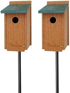 BestNest Audubon Premium Bluebird House Package with Poles