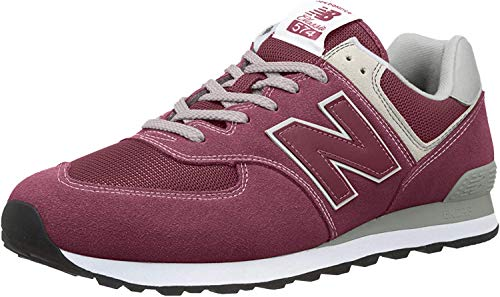 New Balance Herren 574v2 Core Sneaker, Rot (Burgundy), 42.5 EU