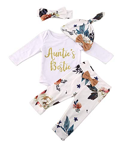 Newborn Baby Girls 3pcs Outfit Set Auntie