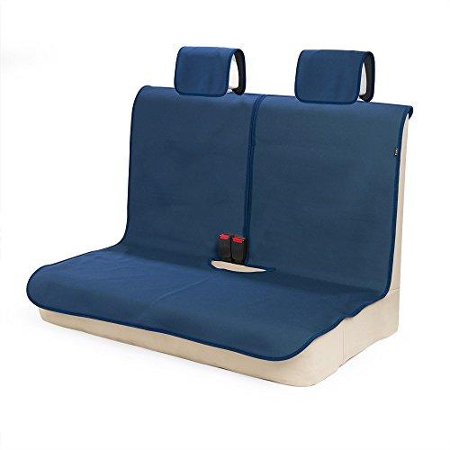 TanYooカーシートカバー防水後席用軽自動車適用ずれにくいSBRボンディングシート保護紺色(ヘッドレストカバー付き)