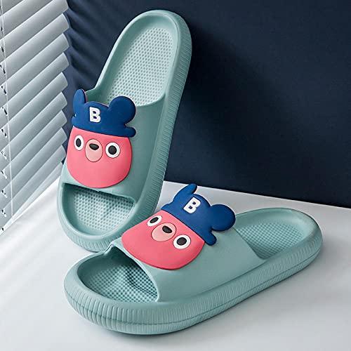 WENHUA Zapatos de baño, Hombres Baño de Uso en el Interior Sandalia, Zapatos de Hombre de EVA de Dibujos Animados de Verano Mujer, Grayish_42-43