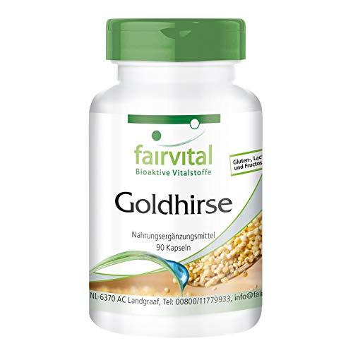 Goldhirse Kapseln - Haar Vitamine HOCHDOSIERT - mit Vitamin B5 und L-Cystein - VEGAN - 90 Kapseln