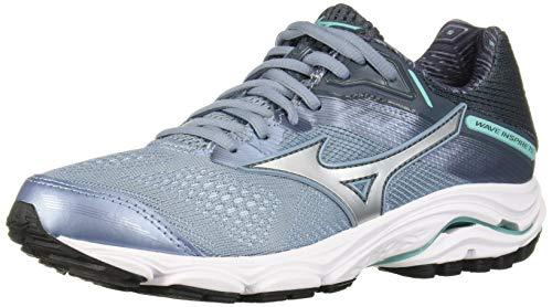 Mizuno Womens' Wave Inspire 15 Running Shoe, Citadel-Silver, 3.5 UK