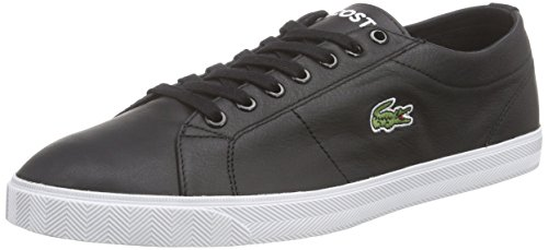 Lacoste Herren MARCEL LCR3 SPM Sneakers, Schwarz (BLACK/BLACK 02H), 41