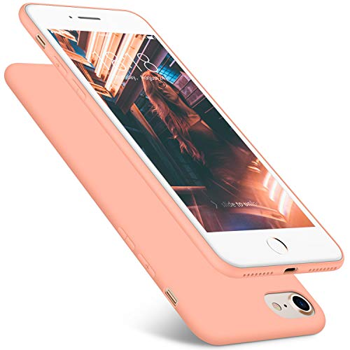 DTTO Case for iPhone 7 and iPhone 8, 4.7inch, [Romance Series] Liquid Silicone Gel Rubber Shock-Absorption Bumper Cover, Anti-Scratch Back, Rose Gold