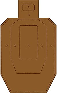 """Reduced IPSC-CB Target Complete with Scoring Zone White on one Side and Brown on Reverse Great for Dry fire use Size: 9 1/8"""" x 14 7/8"""" This is A Reduced IPSC-CB"""
