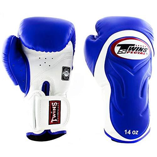 Twins Boxhandschuhe, Premium, BGVL-6, blau-weiß Größe 10 Oz
