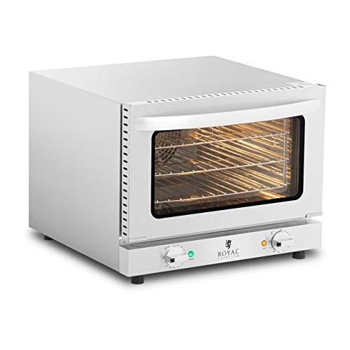 Royal Catering Horno De Convección Profesional Para Hostelería RCCO-2.1 (Temporizador de 0 a 120 min, 70-250 °C, 2.150 W, 3 rejillas incluidas)
