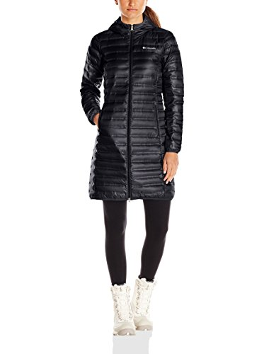 Columbia Women's Flash Forward Long Down Jacket, Black, Small