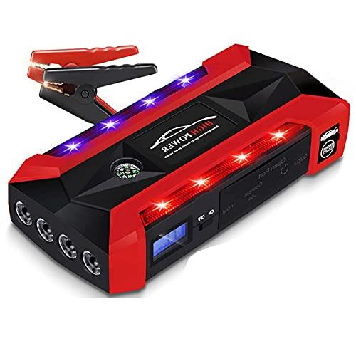 SUNWEII Arrancador portátil para Coche, batería de Emergencia, Banco de energía, 28000mAh 12V 1000A LED, arrancador para Coche, para energía instantánea para automóvil, Motocicleta