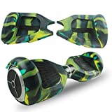 ABBY Protectora Funda de Silicona para 6.5' Smart Scooter Balance Patinete Electrico Hoverboard Cover (Ejercito Verde+Cremallera)