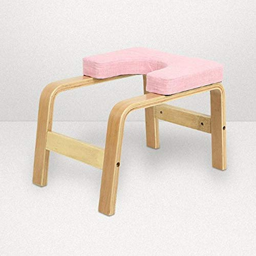 YingQ Headstand Bench Taburete De Yoga Invertido Gimnasio Equipo De Gimnasia Home Indoor Headstand Bench Handstand Chair Body Building Sport Accessories-Pink